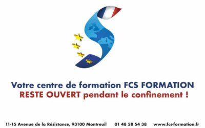 FCS FORMATION – Toutes nos formations sont assurées !