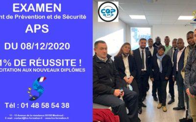 EXAMEN APS – Agent de Prévention et de Sécurité du 08-12-2020